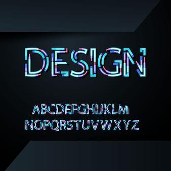 Moderner abstrakter guss trendy art verzerrte schrift