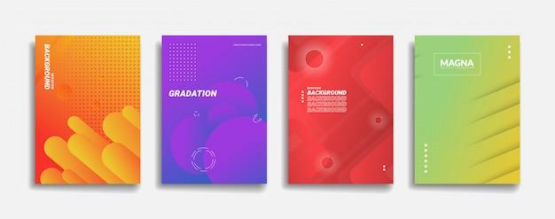 Moderner abstrakter hintergrund. einfaches dynamisches formdesign. minimale lila neonfarbe abstrakte farbverlauf banner vorlage. rot gelb grün blau orange hintergrundabdeckung