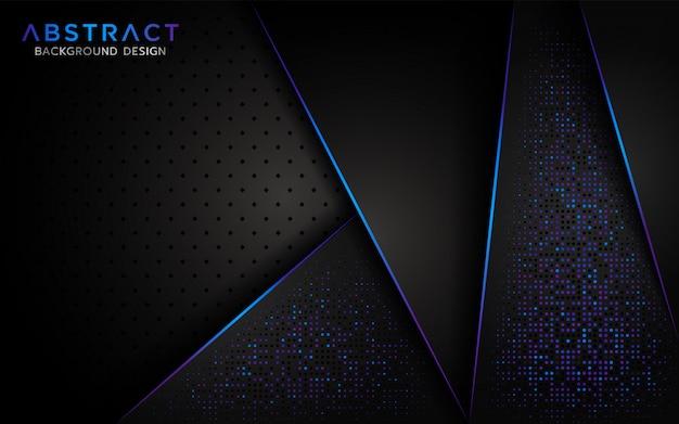 Moderner abstrakter hintergrund mit aurora-funkelnpartikel