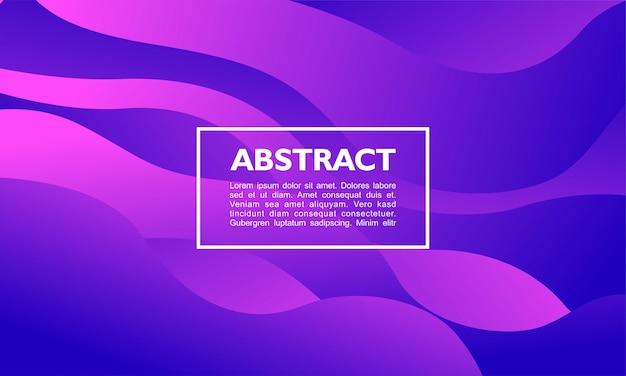 Moderner abstrakter hintergrund mit dem überschneiden des fließens und der kurve formen auf purpurrote farbe