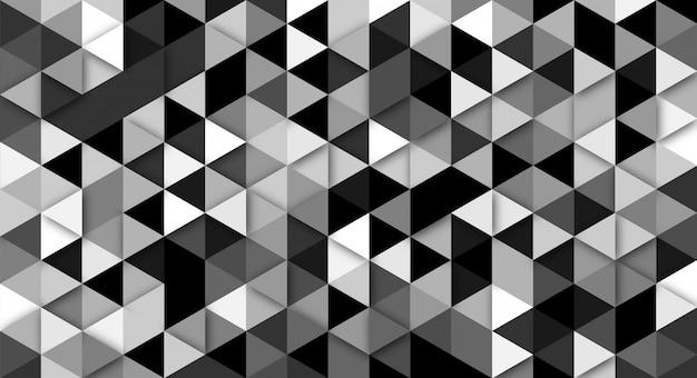 Moderner abstrakter hintergrund mit dreieckelementen. hintergrund mit retro-farben für plakate, banner und landingpage-websites.