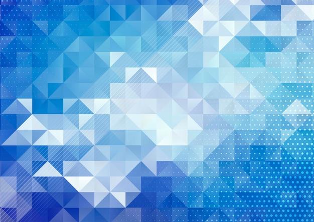 Moderner abstrakter hintergrund mit einem geometrischen low-poly-design