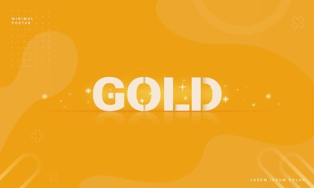 Moderner abstrakter hintergrund mit einem goldenen konzept