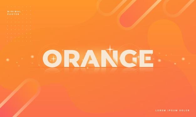 Moderner abstrakter hintergrund mit einem orange konzept