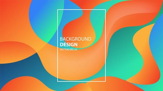 Moderner abstrakter hintergrund mit eleganten steigungs-form-zusammensetzungen