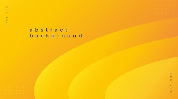 Moderner abstrakter hintergrund mit gelben farbverlaufselementen