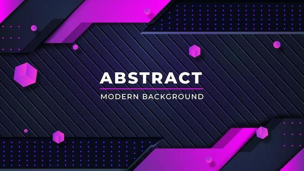 Moderner abstrakter hintergrund mit glühenden rosa punktlinien der kombination