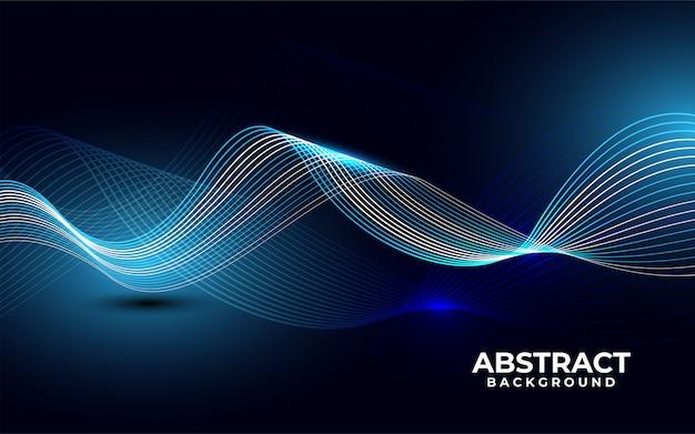 Moderner abstrakter hintergrund mit wellenförmigen weißen blauen linien