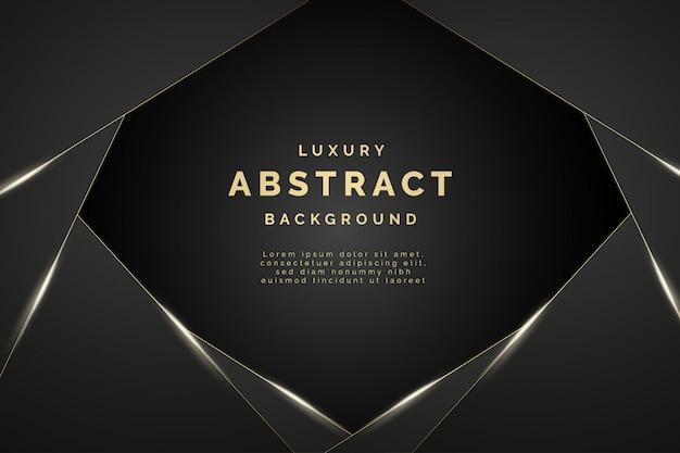 Moderner abstrakter luxushintergrund mit eleganten formen