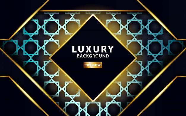 Moderner abstrakter luxushintergrund mit goldlinie und goldenen strahlen