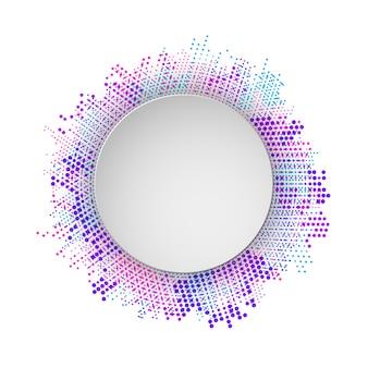 Moderner abstrakter punktierter mehrfarbenhintergrund.