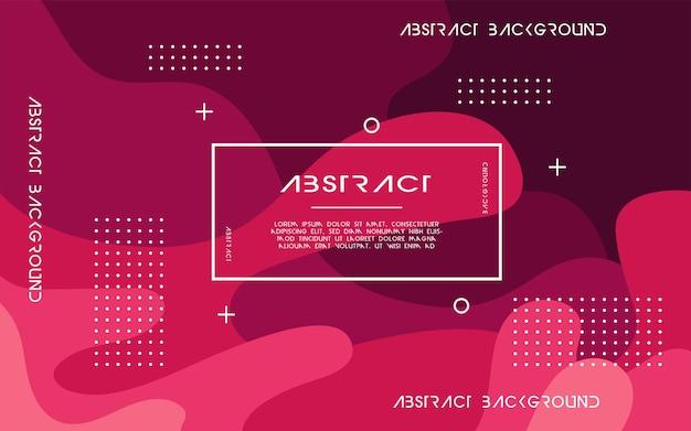 Moderner abstrakter roter flüssiger hintergrund. dynamisches, strukturiertes design mit geometrischen elementen. kann auf postern, bannern, web und mehr verwendet werden.