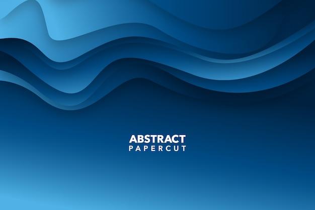 Moderner abstrakter schnitthintergrund des blauen papiers