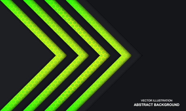 Moderner abstrakter schwarzer grüner und gelber farbhintergrund