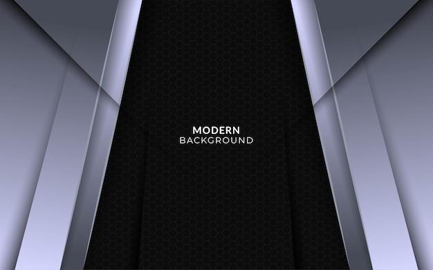Moderner abstrakter silberner hintergrund mit geometrischer schablone der grauen linie
