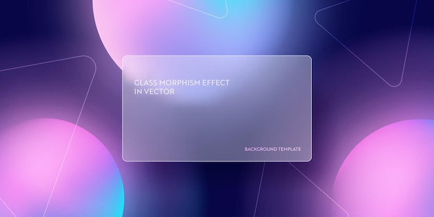 Moderner abstrakter steigungshintergrund mit glasmorphismus. vektorvorlage futuristisches trendiges design banner, 3d-poster, minimalismus-neon-cover, glasunschärfe-flyer. geometrische website, ui glänzender hintergrund