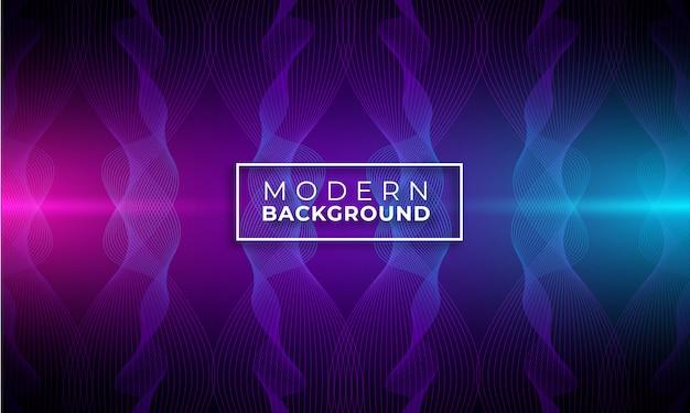 Moderner abstrakter wellenhintergrund mit purpurroter und blauer steigungsfarbe