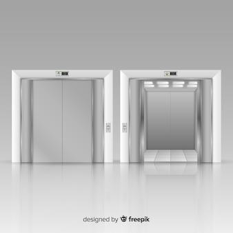 Moderner aufzug mit realistischem design