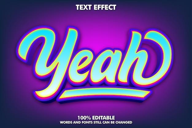 Moderner bearbeitbarer graffiti-texteffekt
