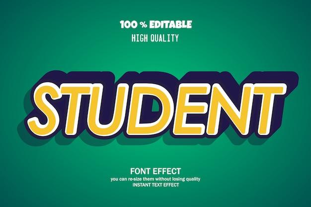 Moderner bearbeitbarer gusseffekt der mutigen studententextart