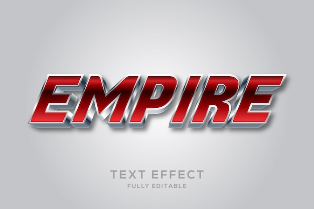 Moderner bearbeitbarer texteffekt in metallic-rot