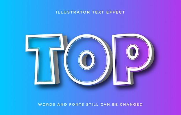 Moderner bearbeitbarer texteffekt