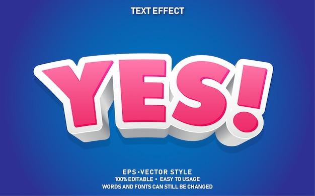 Moderner bearbeitbarer textstil-effekt ja