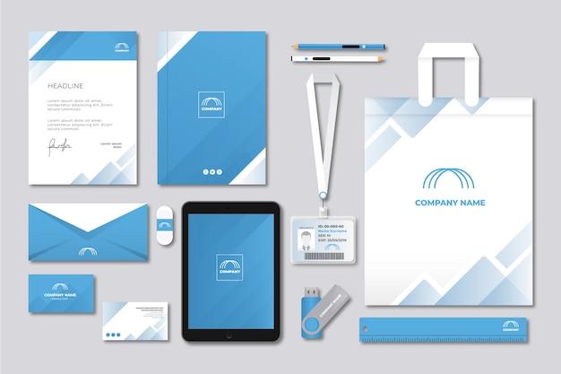 Moderner berufsgeschäftsbriefpapiersatz