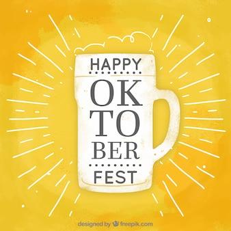 Moderner bierkrug für oktoberfest