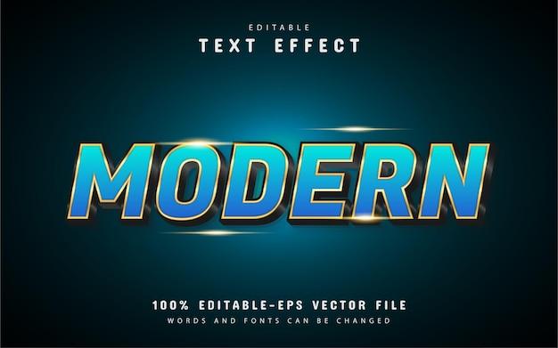 Moderner blaue gold-texteffekt