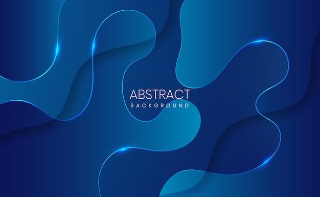 Moderner blauer abstrakter gradientenhintergrund