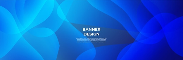 Moderner blauer fahnenhintergrund. vektor abstrakte grafik-design-banner-muster-hintergrund-vorlage.