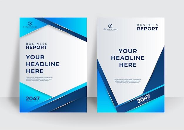 Moderner blauer gelber abdeckungsschablonenhintergrund. bunte broschüre broschüre abstrakte cover-vorlage. business-cover-design-vorlage für broschüre, bericht, katalog, magazin oder broschüre.
