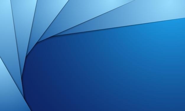 Moderner blauer geometrischer formhintergrund. muster für broschüren, bildungsbroschüren.