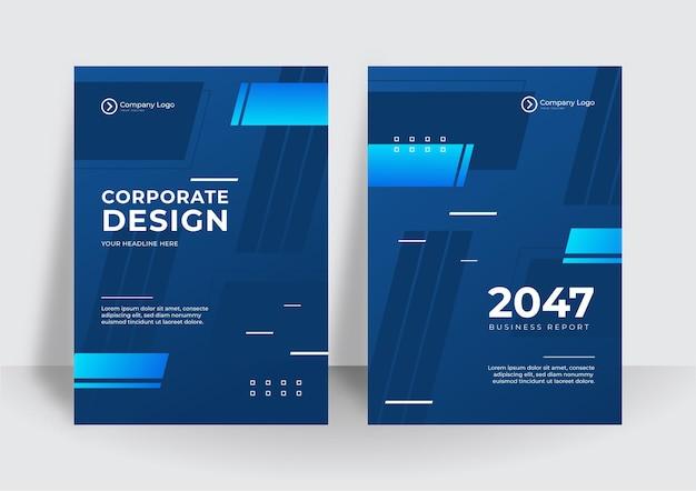 Moderner blauer geschäfts-corporate-cover-design-hintergrund. blaue digitale zeitgenössische cover, vorlagen, poster, broschüren, banner, flyer. abstrakte minimale futuristische technologiedesignhintergründe