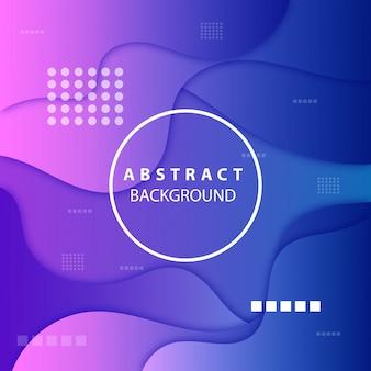 Moderner blauer hintergrund von abstrakten formen