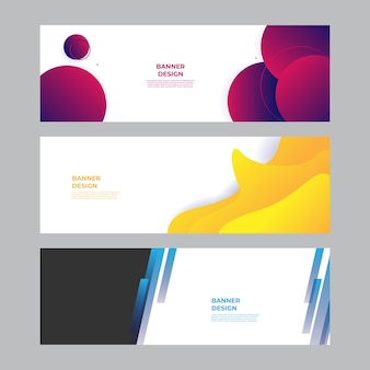 Moderner blauer roter gelber grüner fahnenhintergrund. vektor abstrakte grafik-design-banner-muster-hintergrund-vorlage.