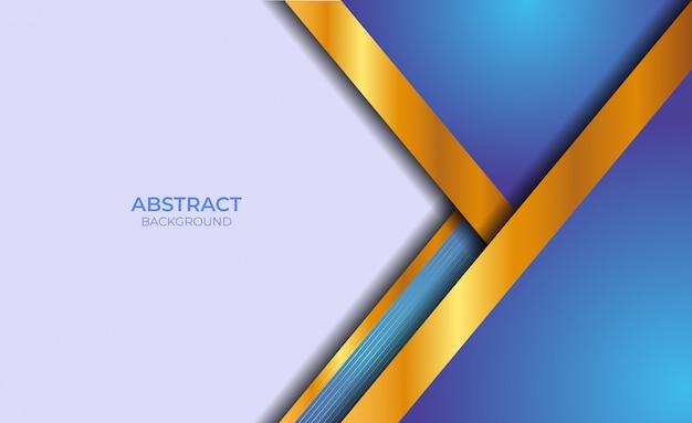 Moderner blauer und goldener abstrakter banner-hintergrund
