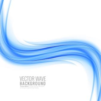 Moderner blauer wellenhintergrund