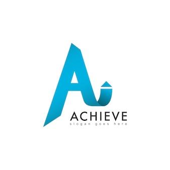 Moderner buchstabe a logo mit pfeil