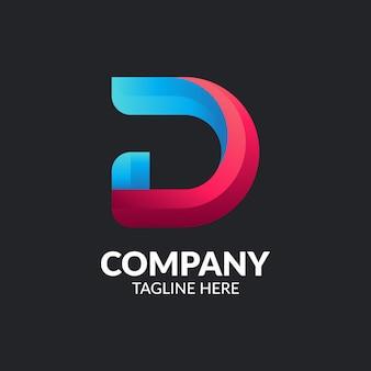 Moderner buchstabe d logo template