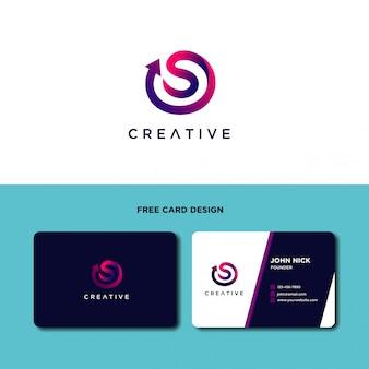 Moderner buchstabe s logo design template
