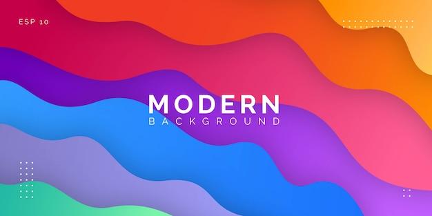 Moderner bunter hintergrund