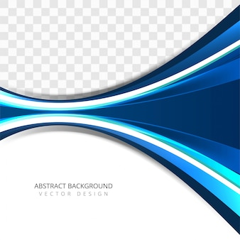 Moderner bunter kreativer blauer Wellenhintergrund