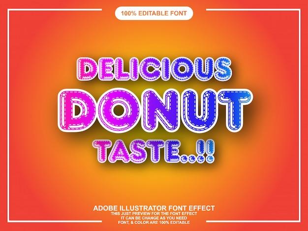 Moderner bunter mutiger editable illustratortexteffekt
