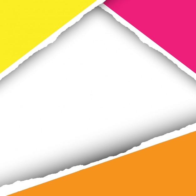 Moderner bunter papierschnitt backgrund