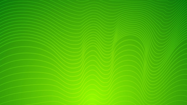 Moderner bunter steigungshintergrund mit gewellten linien. grüne geometrische abstrakte präsentationskulisse. vektor-illustration