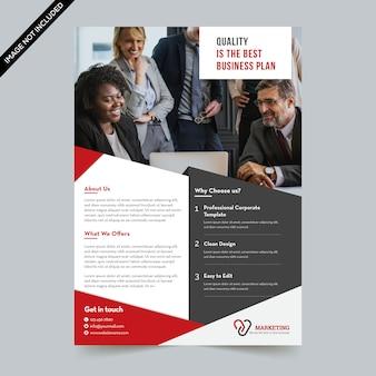 Moderner business-flyer