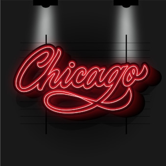 Moderner chicago city schriftzug