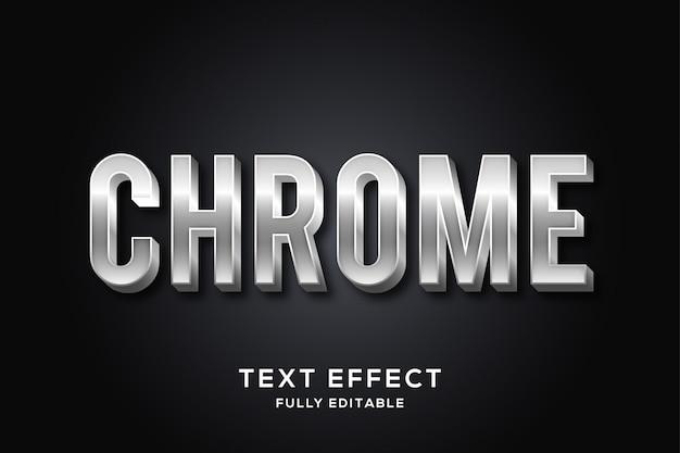 Moderner chrome-texteffekt